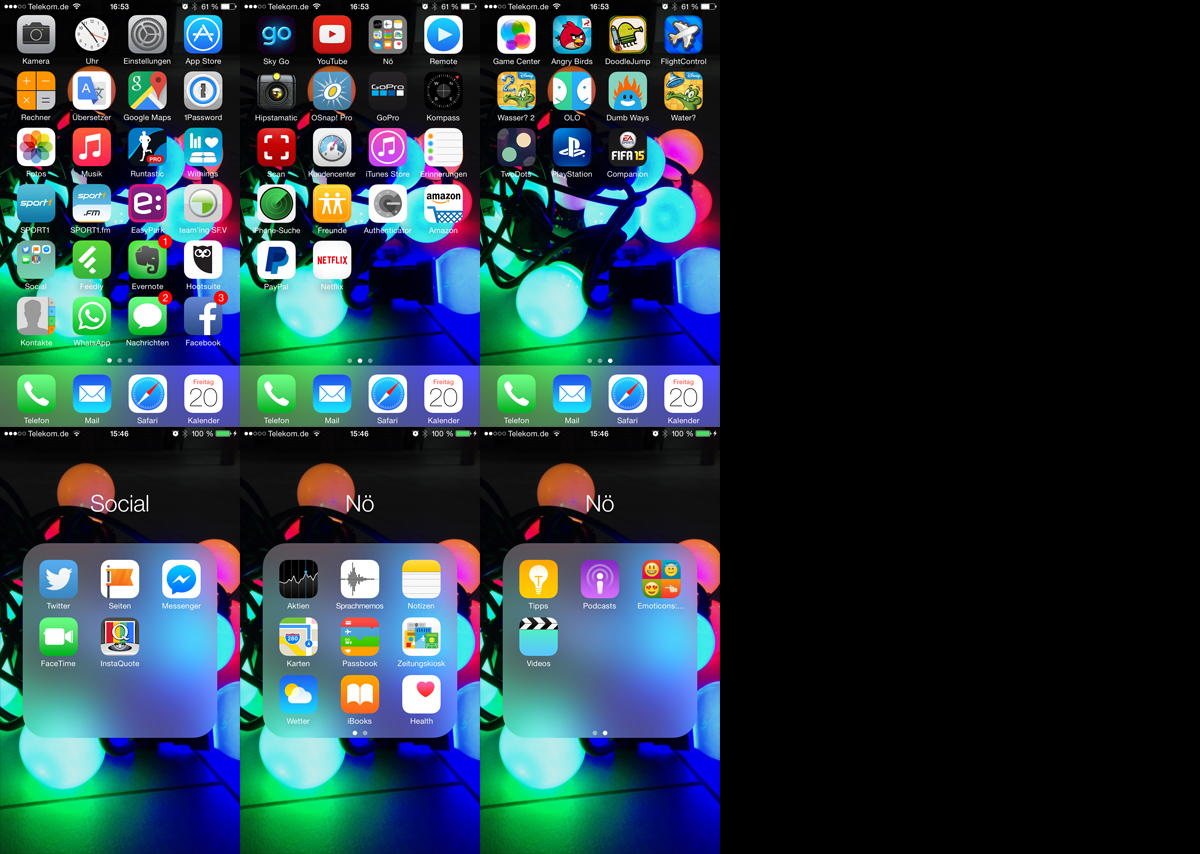 Tschüss Apps! - aufgeräumt