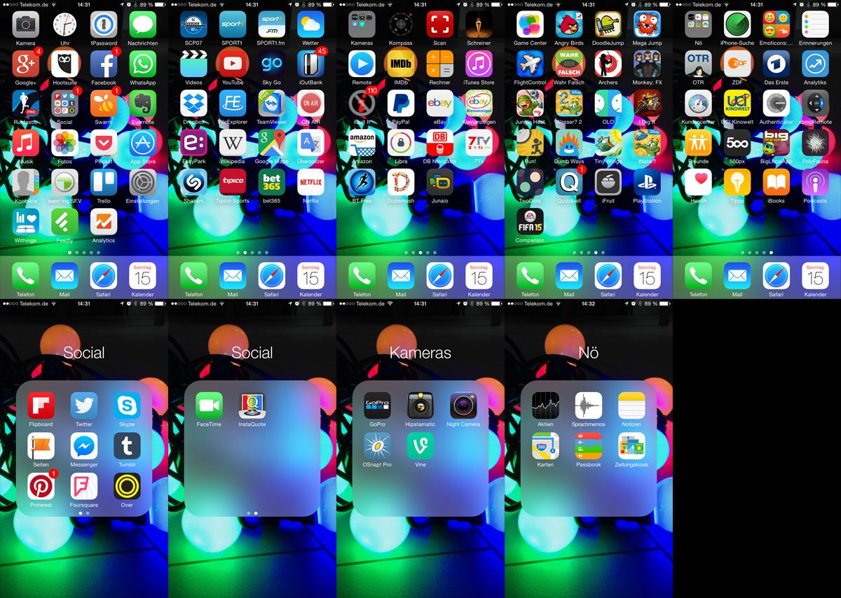 Tschüss Apps! - vorher