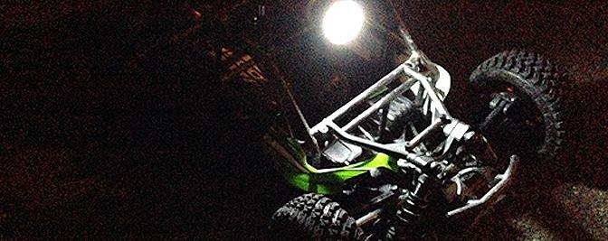 Testfahrt bei Nacht