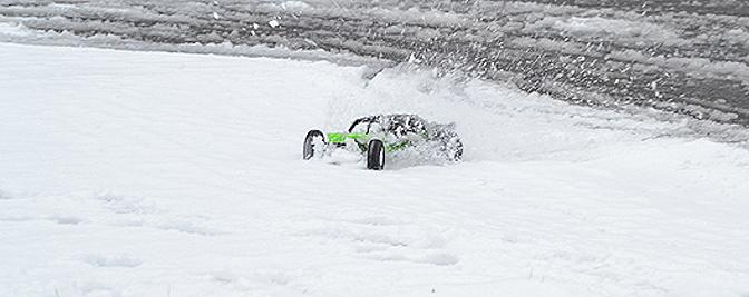 Mein Axial Exo im Schnee
