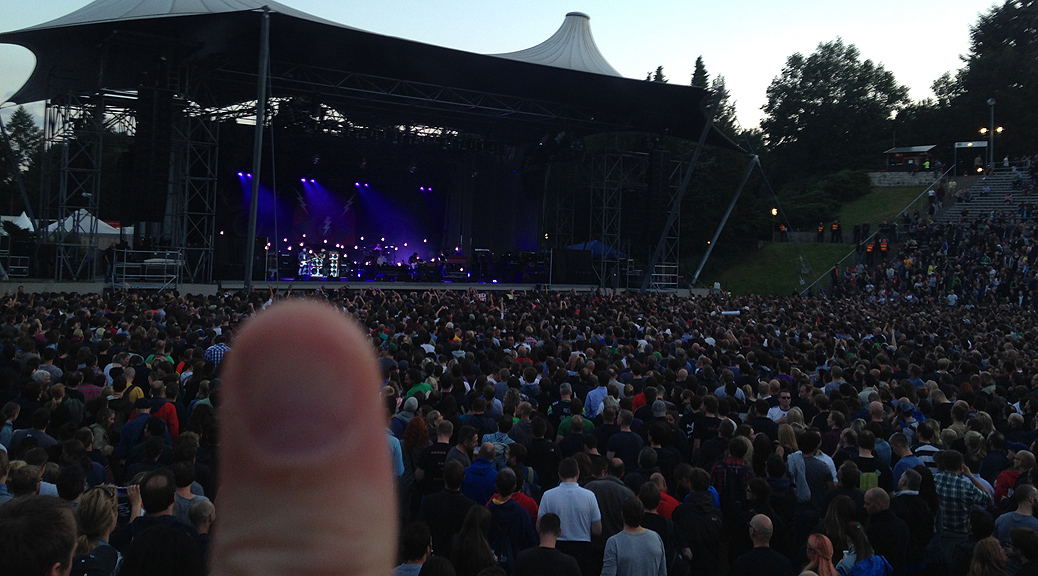 Das ist mein Daumen bei Pearl Jam