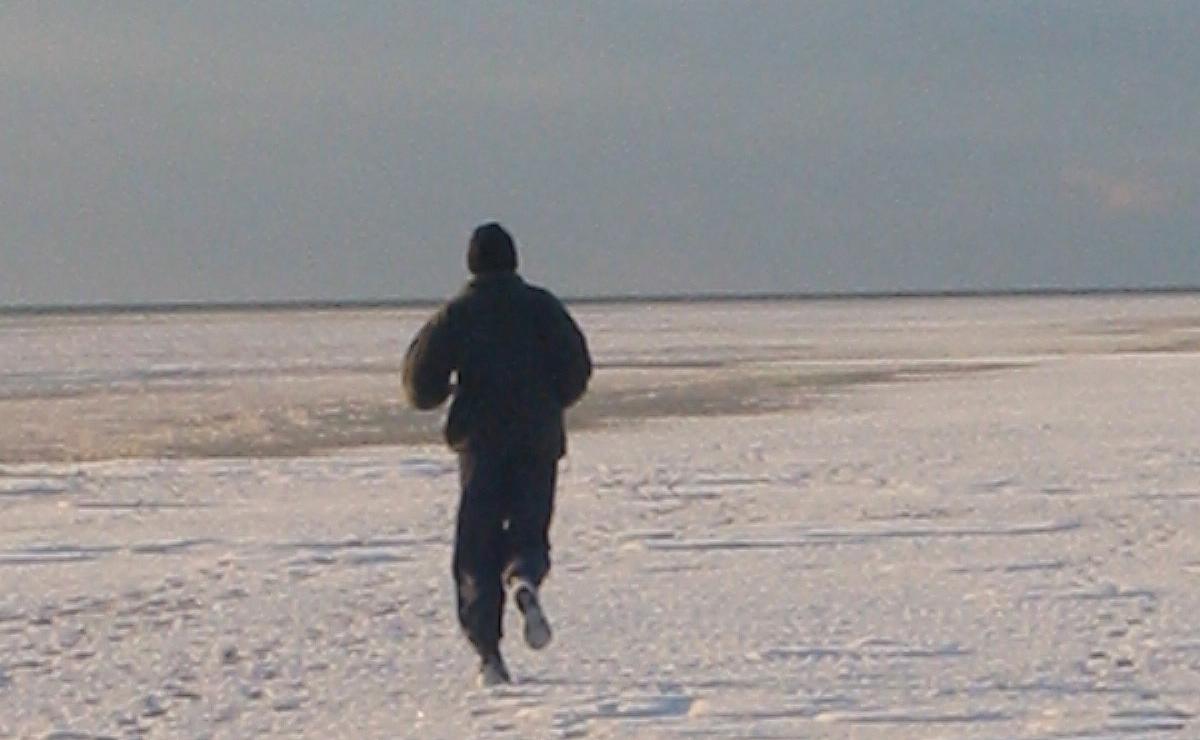 Im Dezember 2001 in Dänemark war der Strand vereist, und ich laufe mit Radiohead auf den Ohren. Ein für immer unvergessenes Gefühl.