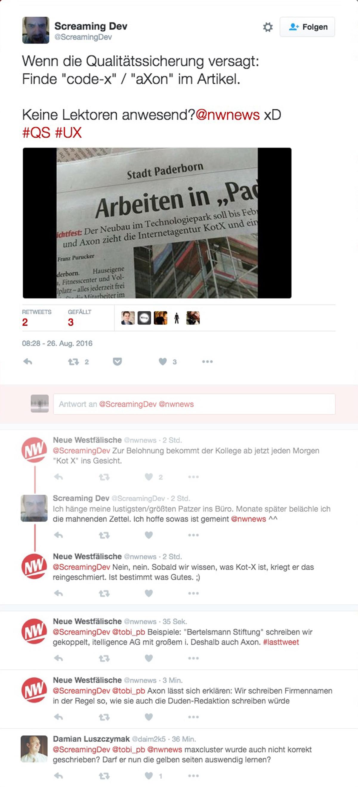 Qualitätsjournalismus aus Paderborn?