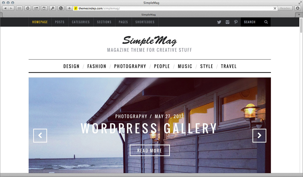 WordPress Theme - Simple Mag