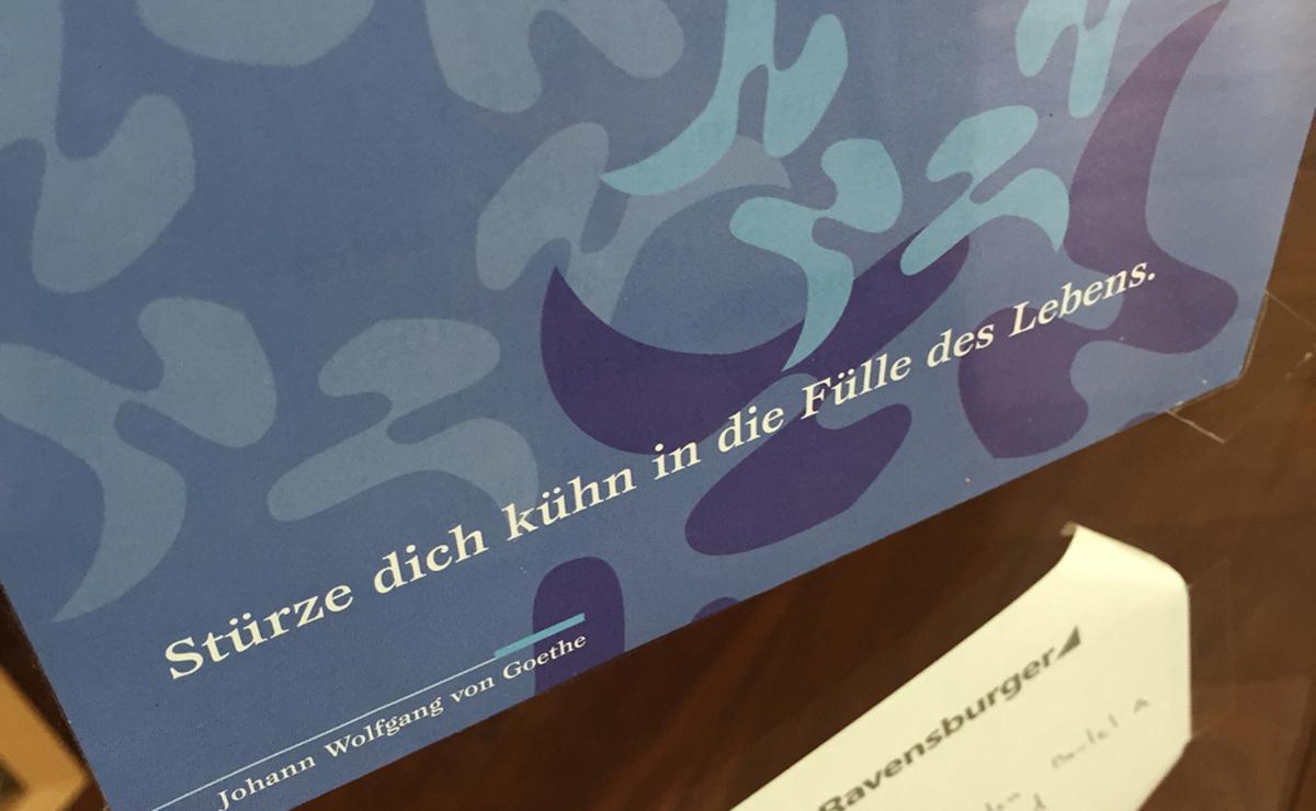 Stürze dich kühn in die Fülle des Lebens (Goethe)